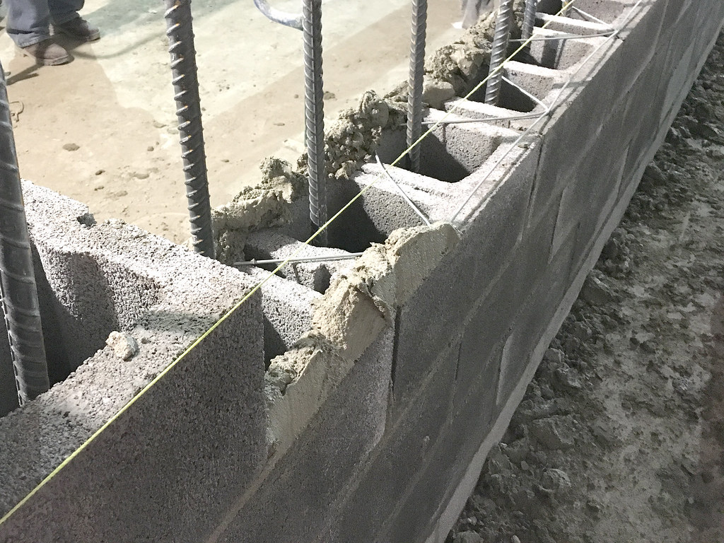 block wall construction